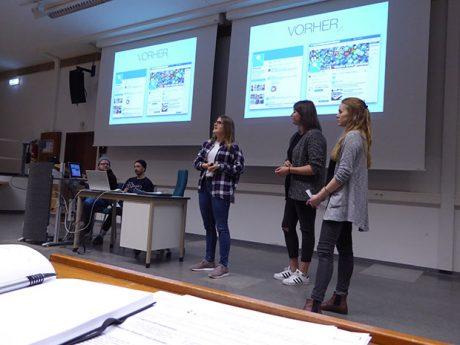 Semesterpräsentationen des Studiengangs Onlinekommunikation im Sommer 2016