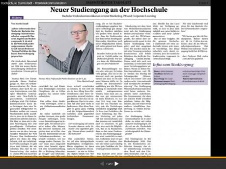 #onkomm im Darmstädter Tagblatt
