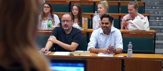 Web-Editing-Dozenten Akbar und Ehlers